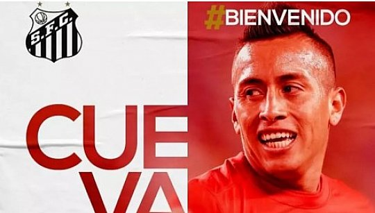 35a4fd6c76 Santos anuncia contratação do meia peruano Cueva